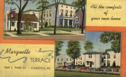 Marquette Terrace - Louisville, Kentucky KY Postcard