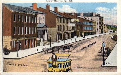Third Street, Main Street - Louisville, Kentucky KY Postcard