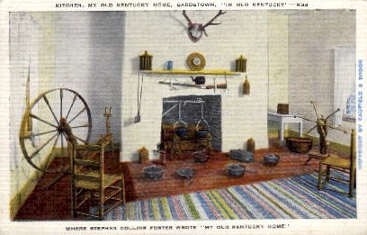 Kitchen, My Old Kentucky Home - Louisville Postcard