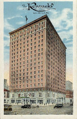 The Kentucky Hotel - Louisville Postcard