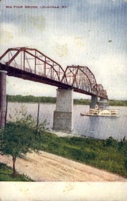Big Four Bridge - Louisville, Kentucky KY Postcard