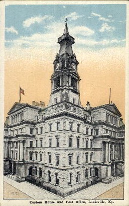 Custom House and Post Office - Louisville, Kentucky KY Postcard