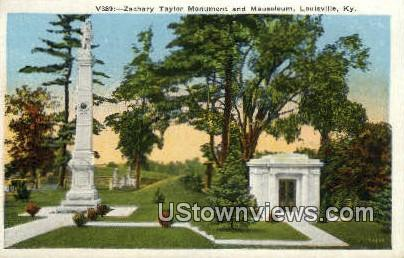 Zachary Taylor Monument - Louisville, Kentucky KY Postcard