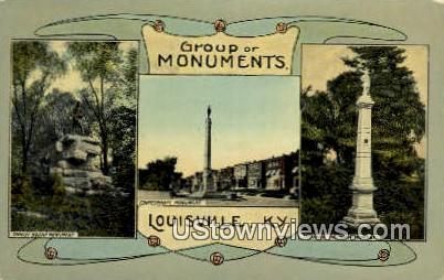 Group Of Monuments - Louisville, Kentucky KY Postcard