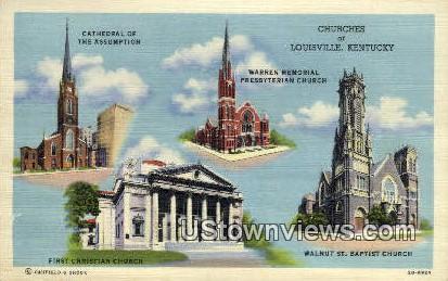 Churches - Louisville, Kentucky KY Postcard