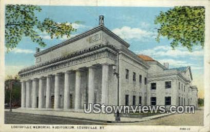 Memorial Auditorium - Louisville, Kentucky KY Postcard