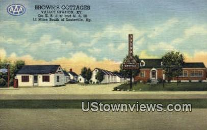 Browns Cottages - Valley Station, Kentucky KY Postcard