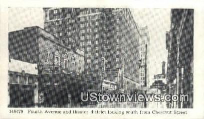 Fourth Avenue And Theatre  - Louisville, Kentucky KY Postcard