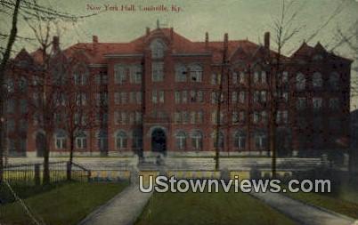 New York Hall  - Louisville, Kentucky KY Postcard