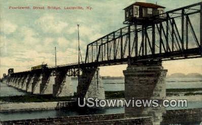 Fourteenth Street Bridge - Louisville, Kentucky KY Postcard