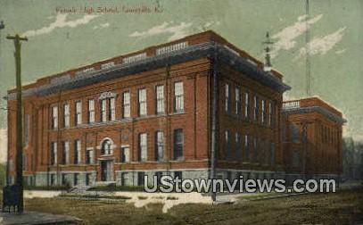 Female High School - Louisville, Kentucky KY Postcard