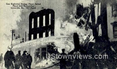 Gas Explosion During Flood Period 1937 - Louisville, Kentucky KY Postcard