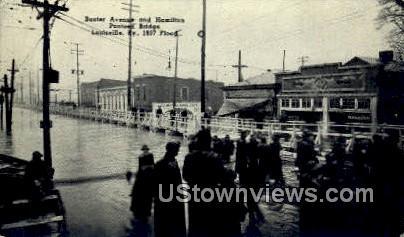 Baxter Avenue And Hamilton  1937 Flood - Louisville, Kentucky KY Postcard