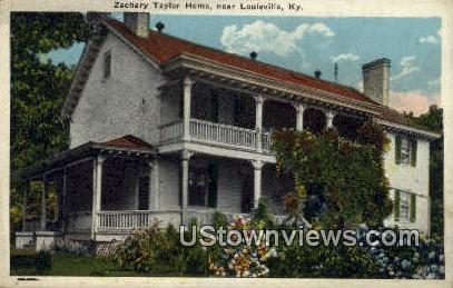 Zachary Taylor Home - Louisville, Kentucky KY Postcard