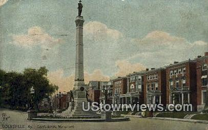 Confederate Monument - Louisville, Kentucky KY Postcard