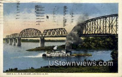 New K. & I.R.R. Bridge - Louisville, Kentucky KY Postcard