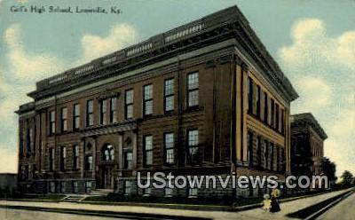Girls High School - Louisville, Kentucky KY Postcard