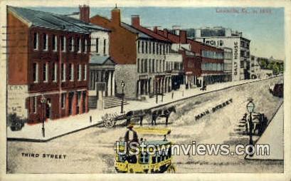Third Street - Louisville, Kentucky KY Postcard
