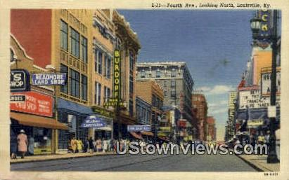 Fourth Ave - Louisville, Kentucky KY Postcard