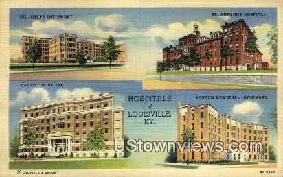 Hospitals  - Louisville, Kentucky KY Postcard