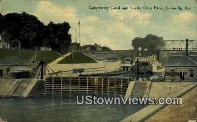 Government Canal And Locks - Louisville, Kentucky KY Postcard