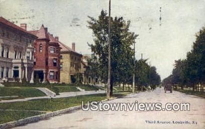 Third Ave - Louisville, Kentucky KY Postcard