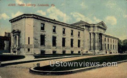 Public Library - Louisville, Kentucky KY Postcard