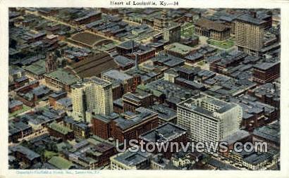 Heart Of The City - Louisville, Kentucky KY Postcard