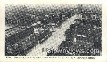 L&N Railroad Office 1937 Flood - Louisville, Kentucky KY Postcard