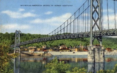 Maysville-Aberdeen Bridge - Kentucky KY Postcard