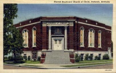 Murrell Boulevard Church of Christ - Paducah, Kentucky KY Postcard
