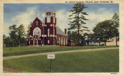 St. John's Catholic Church - Paducah, Kentucky KY Postcard