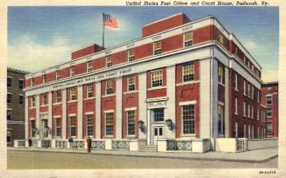 U.S. Post Office and Court House - Paducah, Kentucky KY Postcard
