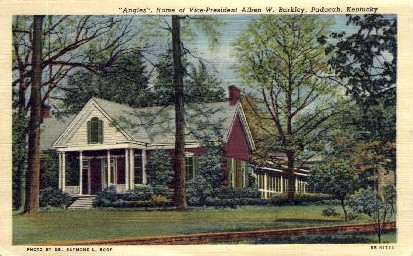 Home of Vice-President Alben W. Barkley - Paducah, Kentucky KY Postcard