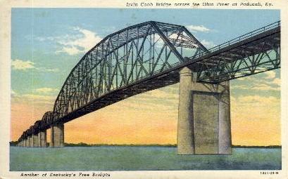 Irvin S. Cobb Bridge - Paducah, Kentucky KY Postcard