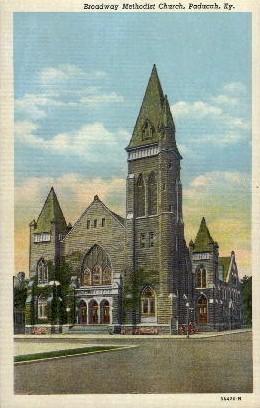 Broadway Methodist Church - Paducah, Kentucky KY Postcard