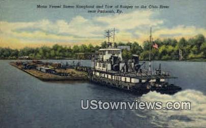 Motor Vessel Susan Hougland - Paducah, Kentucky KY Postcard