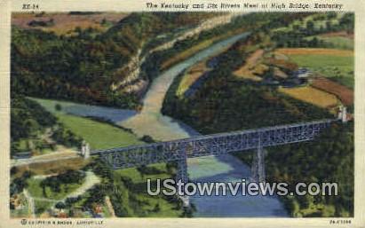 The Kentucky & Dix Rivers - High Bridge Postcard