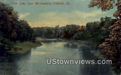 Lake, Cave Hill Cemetery  - Louisville, Kentucky KY Postcard