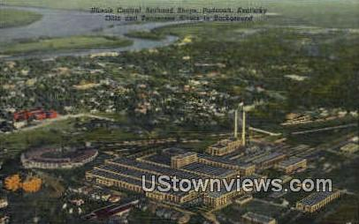 Illinois Central Railroad Shops - Paducah, Kentucky KY Postcard