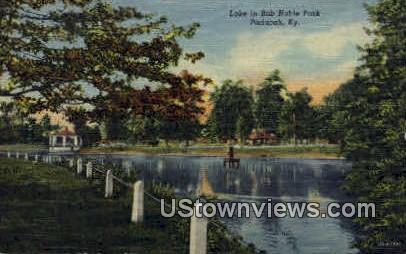 Lake, Bob Noble Park - Paducah, Kentucky KY Postcard