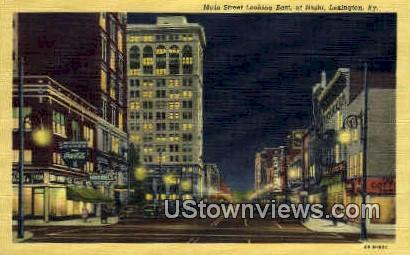 Main St. - Lexington, Kentucky KY Postcard