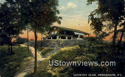 Country Club - Henderson, Kentucky KY Postcard