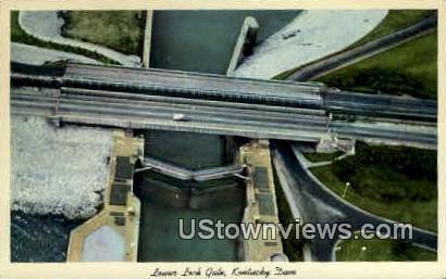 Lower Lock Gate - Kentucky Dam Postcards, Kentucky KY Postcard