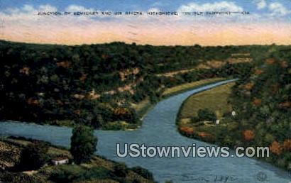 Junction of Kentucky & Dix Rivers - High Bridge Postcard