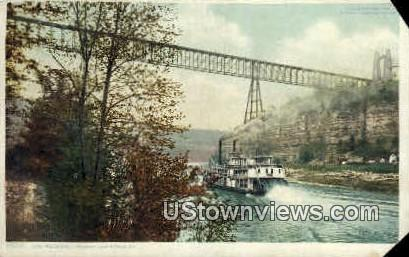 Str. Falls City - High Bridge, Kentucky KY Postcard