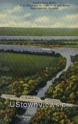 Clark's River Bridge - Paducah, Kentucky KY Postcard