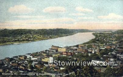 Birds Eye View - Maysville, Kentucky KY Postcard