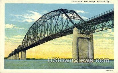 Ohio River - Paducah, Kentucky KY Postcard