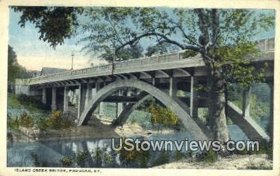 Island Creek Bridge - Paducah, Kentucky KY Postcard